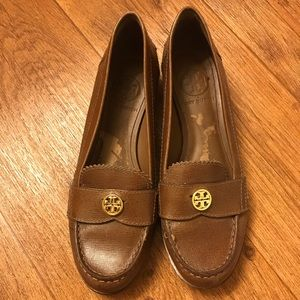 Tory Burch Brown Leather Loafers